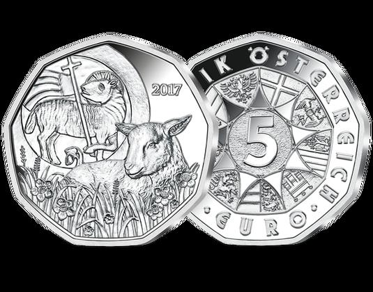 5 Euro Silbermünze 2017 Das Osterlamm 5 Euro Silber Münzen