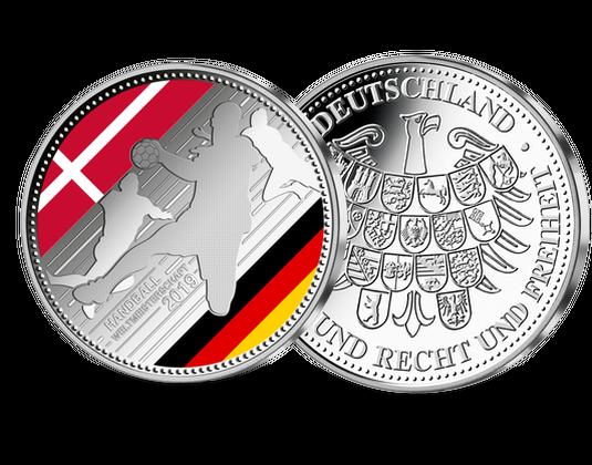 Silberprägung Handball Wm 2019 Mdm Deutsche Münze
