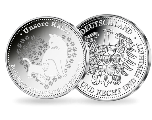 Silberprägung Unsere Katze Deutschlands Beliebtestes Haustier