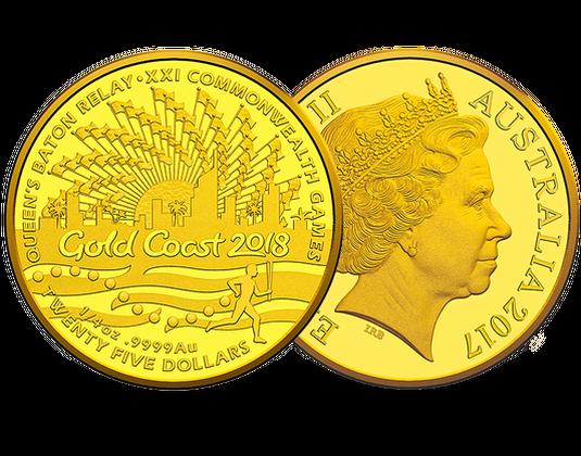 Commonwealth Games Queens Baton Relay 25 Gold Coin BNTorguk