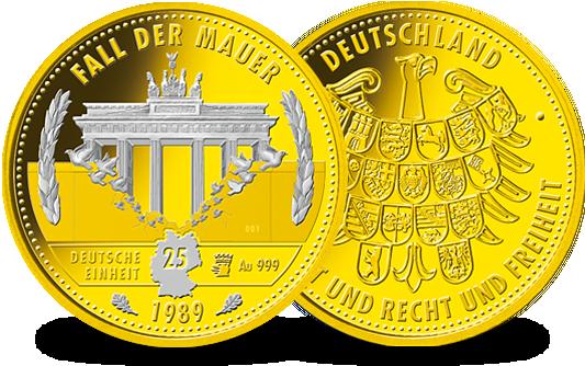 Gold Jahresausgabe 30 Jahre Mauerfall Aus Der Münze Berlin Mdm