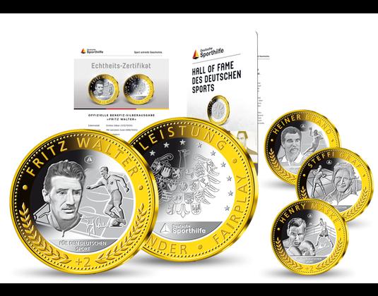 Benefiz Silberkollektion 50 Jahre Deutsche Sporthilfe Mdm Deutsche