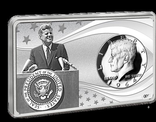 Silberbarren Usa 2017 100 Geburtstag John F Kennedy Mdm Deutsche