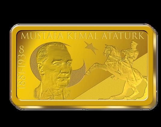 Goldbarren Mustafa Kemal Atatürk Mdm Deutsche Münze