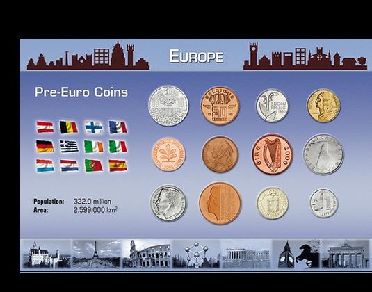Die Letzten Nationalen Münzen Vor Der Euro Einführung Mdm Deutsche