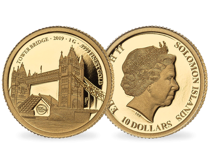 Set de 2 monnaies 125ème anniversaire du Tower Bridge 2019
