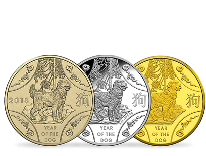 Year of the Dog 2018 Gold & Silver Coins