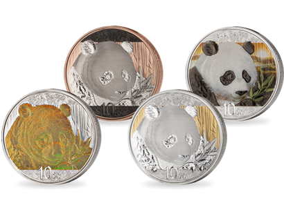 Silver Investment Coin Panda-Prestige-Set 2018