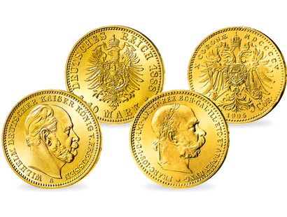 2er Goldmünzen-Set ''Gasteiner Konvention''!
