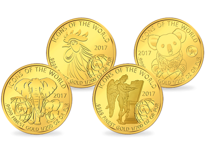The Affordable Gold Collection - Icons of the World 2017 Gold Coins
