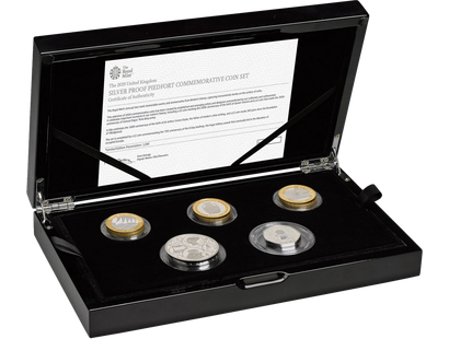 The Royal Mint 2019 Silver Proof Piedfort Coin Set