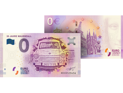 "0-Euro-Banknote ""30 Jahre Mauerfall"""
