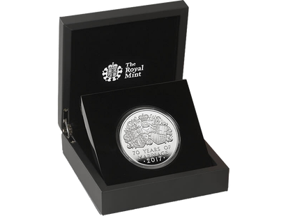 The Platinum Wedding Anniversary 2017 £10 5oz Silver Proof Coin