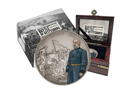 Battles That Changed History - Battle of Gettysburg 1oz Silver Coin
