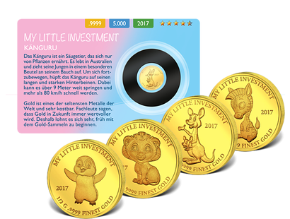 Gedenkmünzen ''My little Investment'' aus reinstem Gold (999,9/1000)
