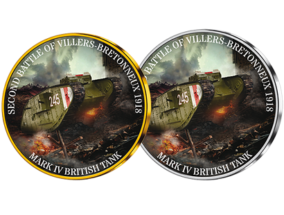 Combat Tanks - 1918 Mark IV British Tank Silver and Gold-Plated Commemoratives