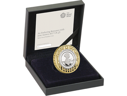 An Enduring Romance with Jane Austen 2017 Silver Proof Piedfort £2 Coin