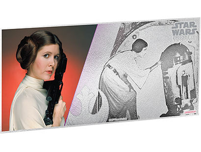 Star Wars: A New Hope - Princess Leia 5g Silver Coin Note