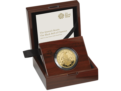 The Queen's Beasts - The Black Bull of Clarence 2018 £100 1oz Gold Proof Coin