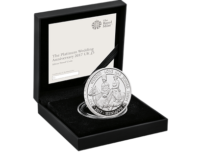 The Platinum Wedding Anniversary 2017 £5 Silver Proof Coin