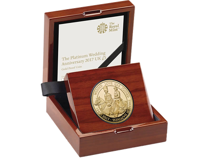 The Platinum Wedding Anniversary 2017 £5 Gold Proof Coin