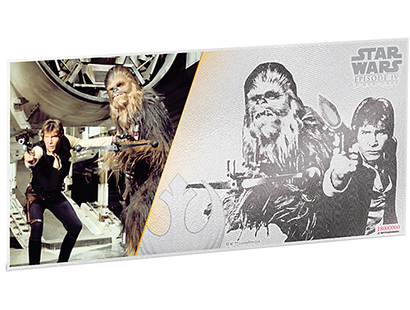 Star Wars: A New Hope - Han Solo & Chewbacca 5g Silver Coin Note