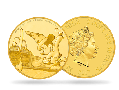 Mickey Through the Ages – Fantasia 0.5g Gold Coin