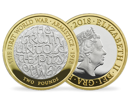 100th Anniversary of the First World War Armistice 2018 Silver Proof £2 Coin