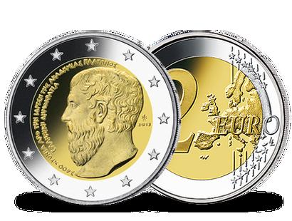 2 Euro Münzen Griechenland Günstig Kaufen Mdm Deutsche Münze