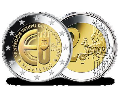 Alle 2 Euro Münzen Aus Der Slowakei Mdm Deutsche Münze