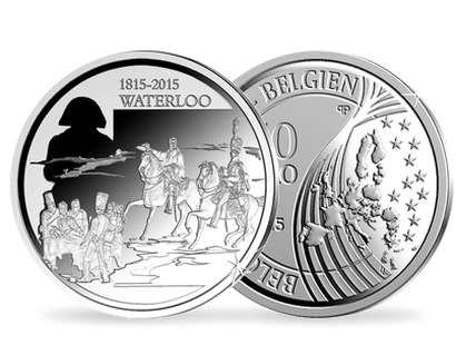 Belgique 2015 10Euro Waterloo Ag BE