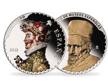 Treasures of Spanish Museums - Spring by Arcimboldo & Cardinal Borgia by Velázquez €50 Euro Silver Coin