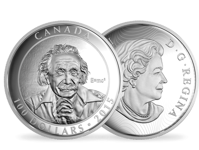 10 oz. Fine Silver Coin – Albert Einstein – The Anniversary of the Theory of Relativity