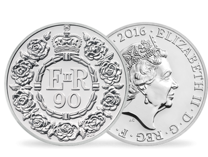 The Queen's 90th Birthday 2016 £20 Fine Silver Coin