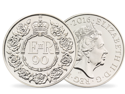 Queen's 90th Birthday 2016 £5 Brilliant Uncirculated Coin