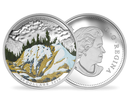 Landscape Illusion - Mountain Goat $20 Fine Silver Coin