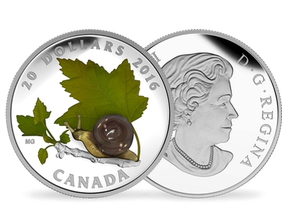 Little Creatures - Snail $20 Fine Silver Coin