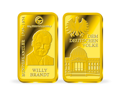 "Goldbarren Bundeskanzler ""Willy Brandt"""