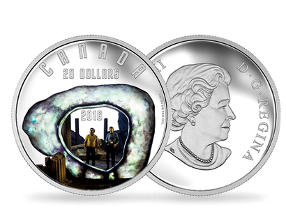 Iconic Star Trek Scenes 2016 - The City on the Edge of Forever 1oz Pure Silver Coloured Coin
