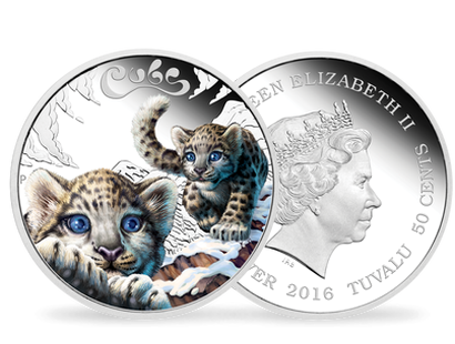 The Cubs – Snow Leopard 2016 1/2oz Silver Proof Coin