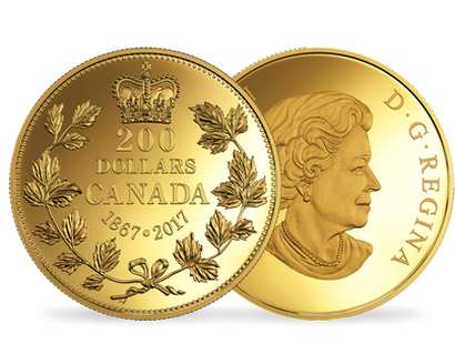 Canada 2017 150 Years of Passion - Maple Leaf $200 Gold Coin
