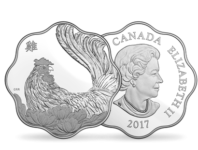 Year of the Rooster 2017 Pure Silver Lunar Lotus Coin