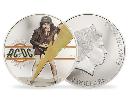 "Monnaie 2 Dollars AC/DC ""High Voltage"" 2018"