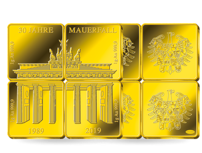 Das Brandenburger Tor in edlem Gold