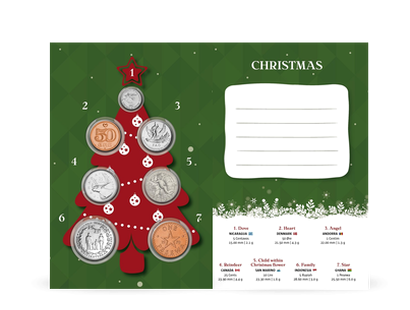 Carte de Noël numismatique