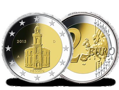 2 Euro Münzen 2015 Hessen Ausreise Info