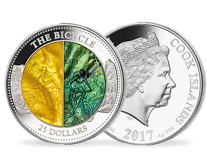 Mother of Pearl Series 2017 - 200th Anniversary of the Bicycle Silver Coin