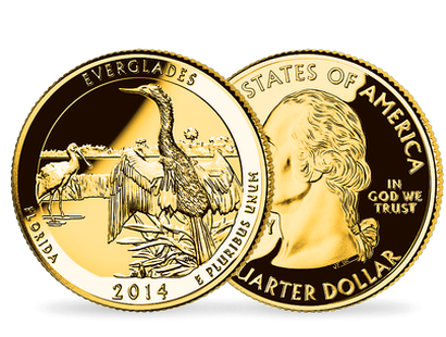Quarter-Dollars Parc nationaux « Floride - Parc national des Everglades et Nebraska - Le monument national de Homestead »
