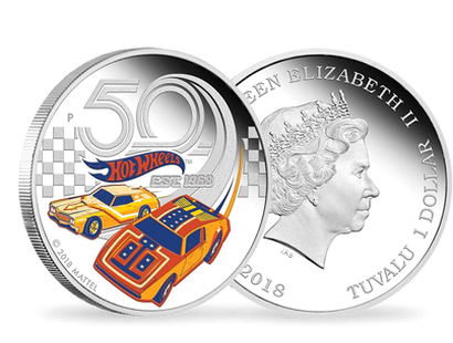 50 Years of Hot Wheels 2018 1oz Silver Proof Coin