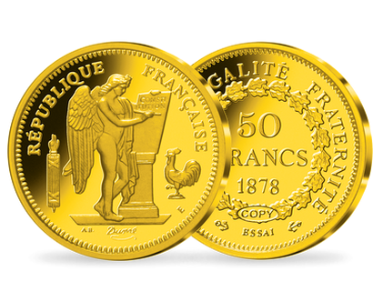 Collection: « L'Or de la France » en argent doré à l'or pur